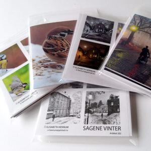 Ferdige kort med konvolutt